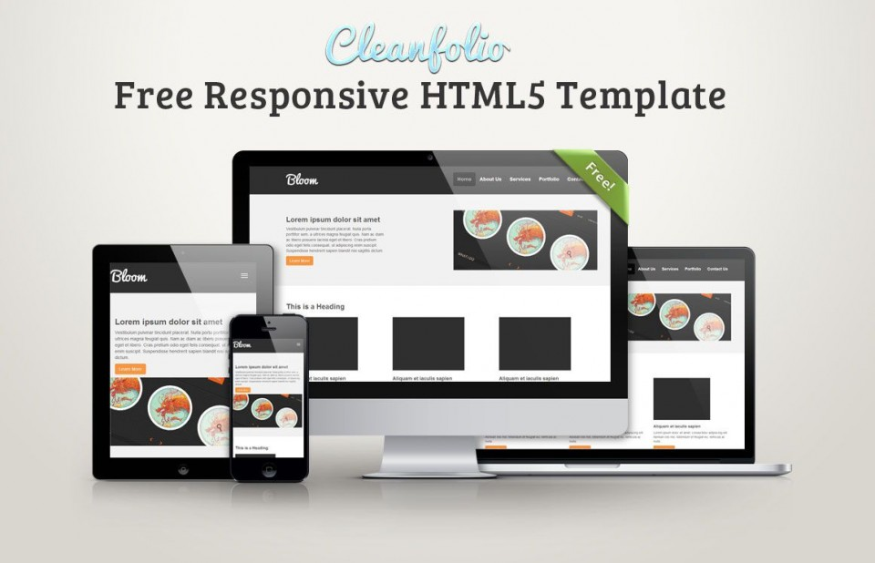 001 Excellent Free Responsive Html5 Template Sample  Download For School Bootstrap Website960