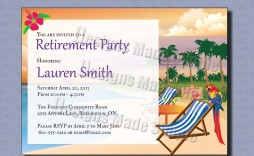 001 Excellent Free Retirement Reception Invitation Template Photo  Templates