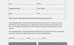 001 Excellent Horse Bill Of Sale Template High Resolution  Australia Agreement