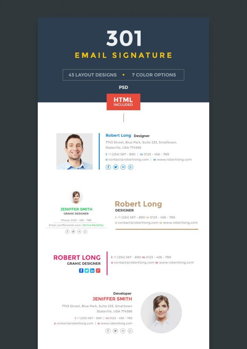 001 Excellent Html Email Signature Template High Definition  Generator Github Responsive Free