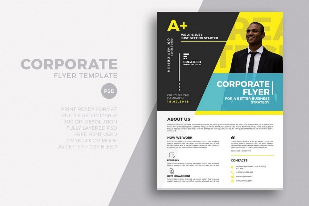 001 Excellent In Design Flyer Template Highest Clarity  Indesign Free Adobe DownloadLarge