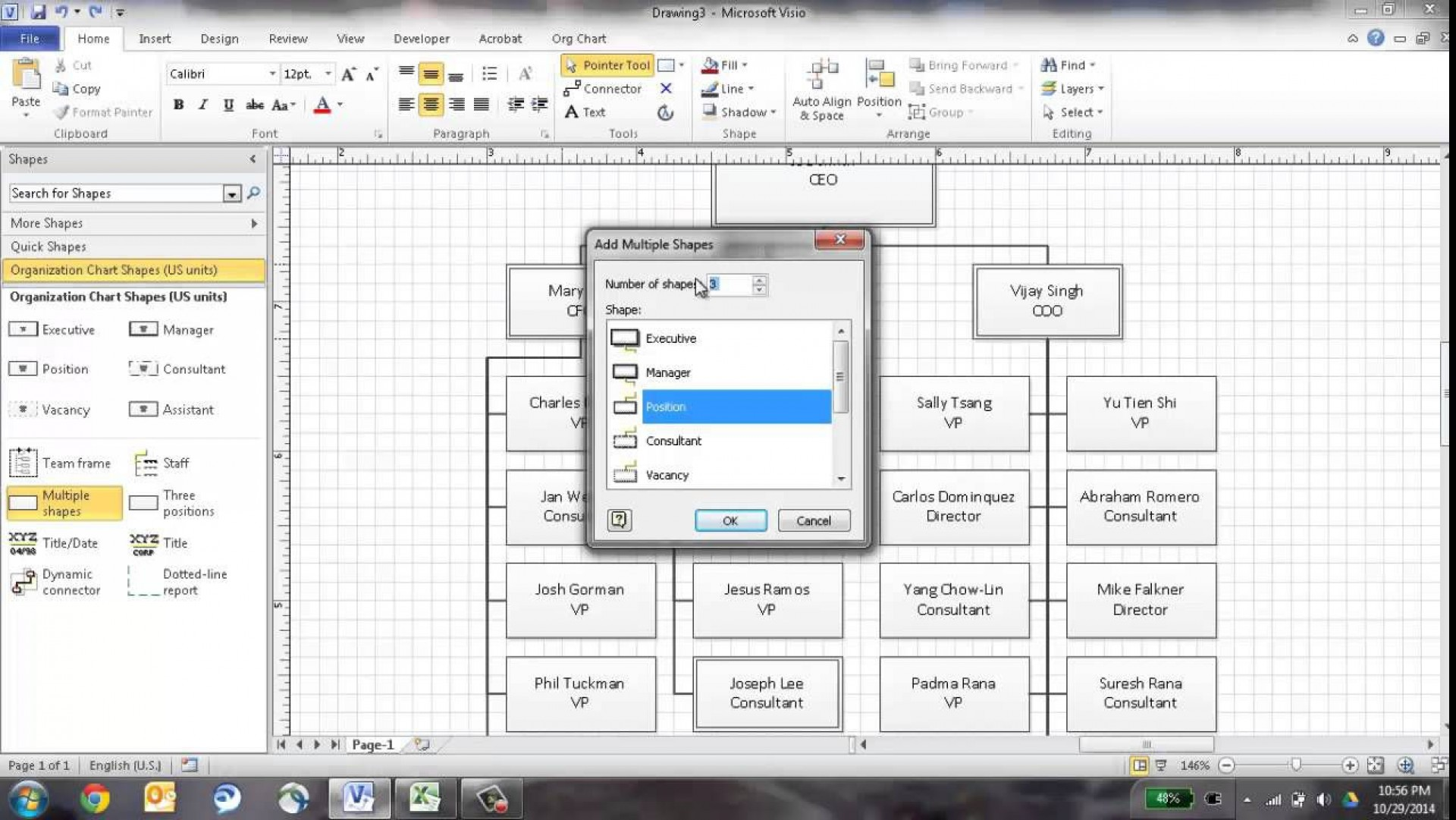 001 Excellent Microsoft Visio Org Chart Shape Example  Shapes1920