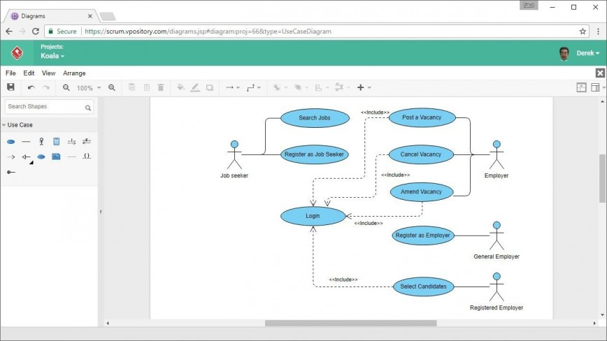 001 Excellent Microsoft Word Use Case Diagram Template Picture