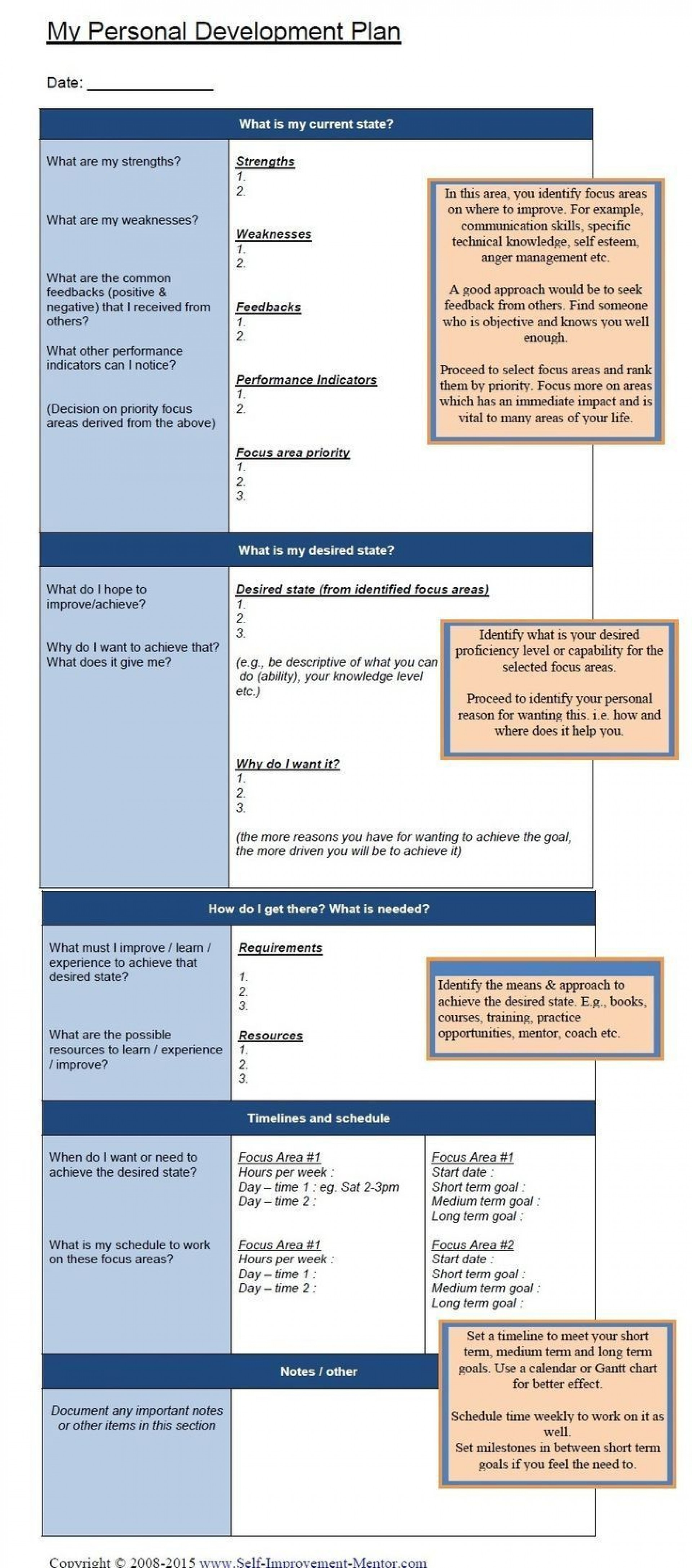 001 Excellent Personal Development Plan Template Excel Picture  Sample1920