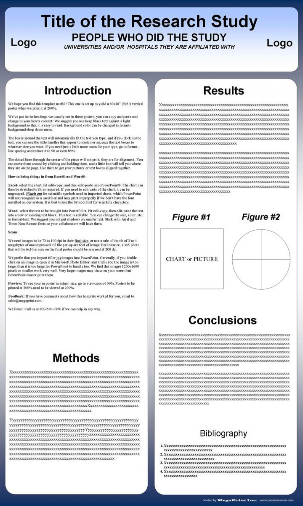 001 Excellent Poster Presentation Template Free Download Design  1m X A0Large
