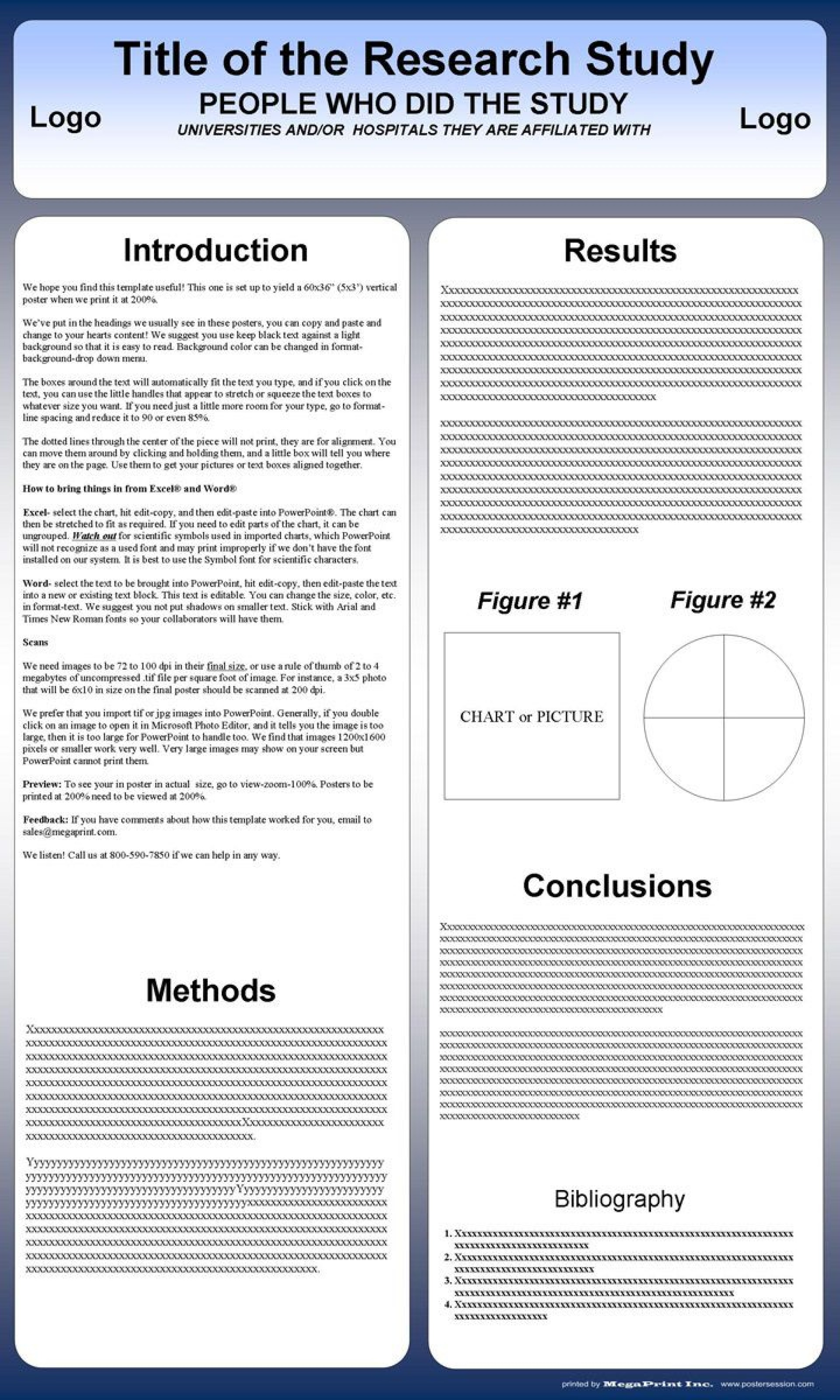 001 Excellent Poster Presentation Template Free Download Design  1m X A01920