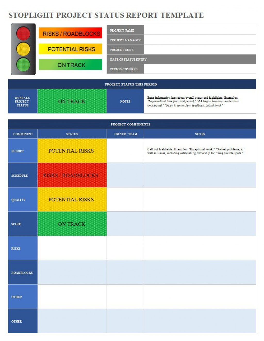 001 Excellent Project Statu Report Template Excel Inspiration  Free Progres Format XlLarge