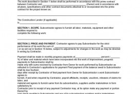 001 Excellent Subcontractor Contract Template Free High Resolution  Uk