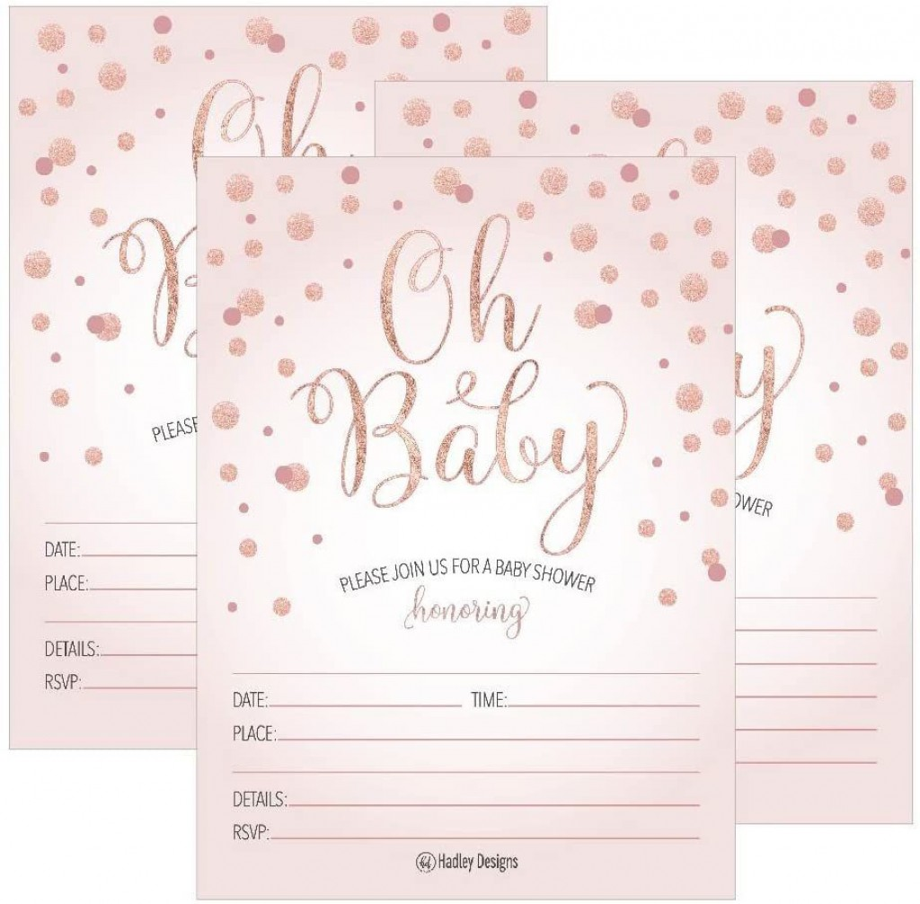 001 Exceptional Baby Shower Invitation Girl Printable Inspiration Large