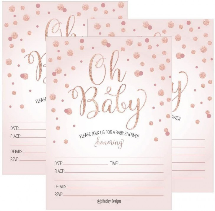 001 Exceptional Baby Shower Invitation Girl Printable Inspiration 728