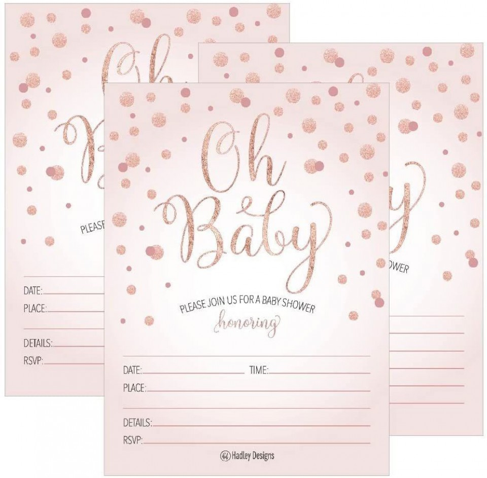 001 Exceptional Baby Shower Invitation Girl Printable Inspiration 960