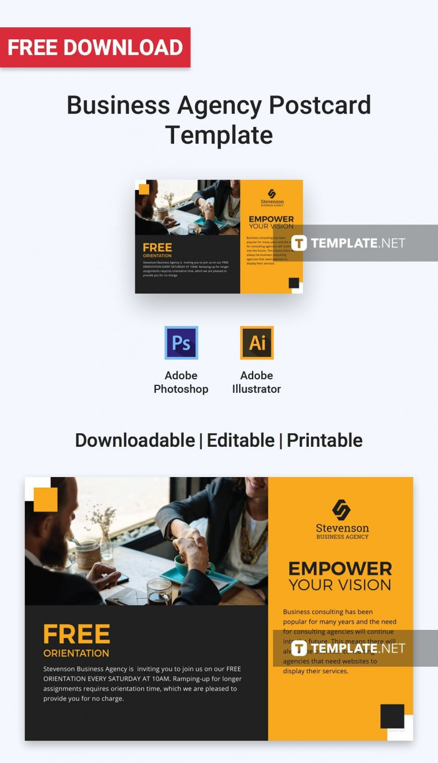 001 Exceptional Busines Postcard Template Microsoft Word High Definition