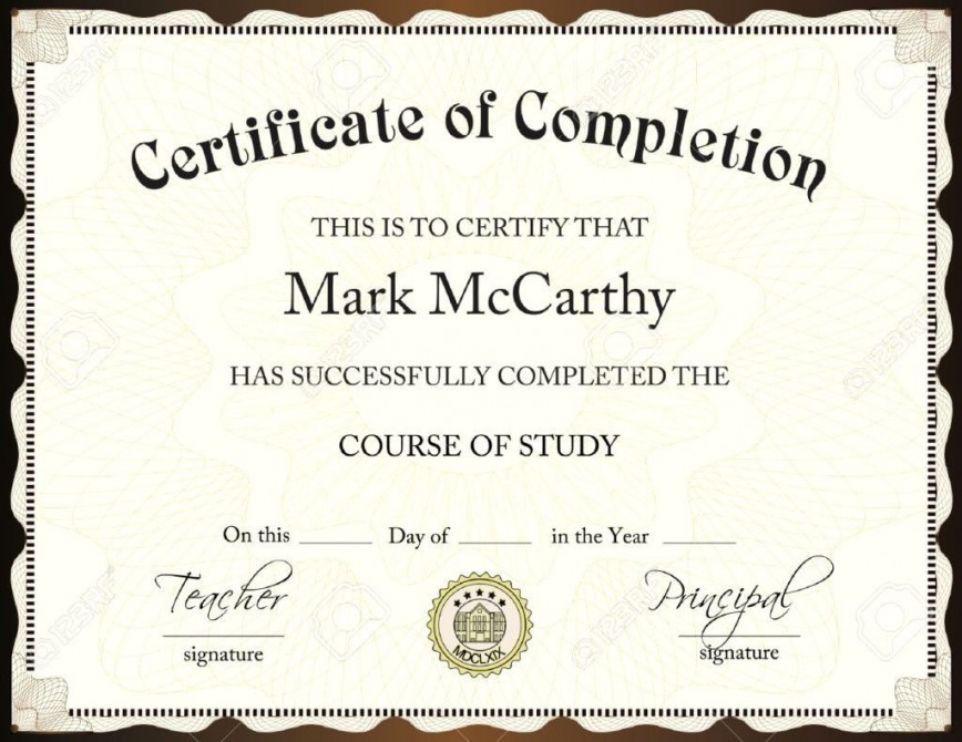 001 Exceptional Certificate Of Award Template Word Free Idea 868