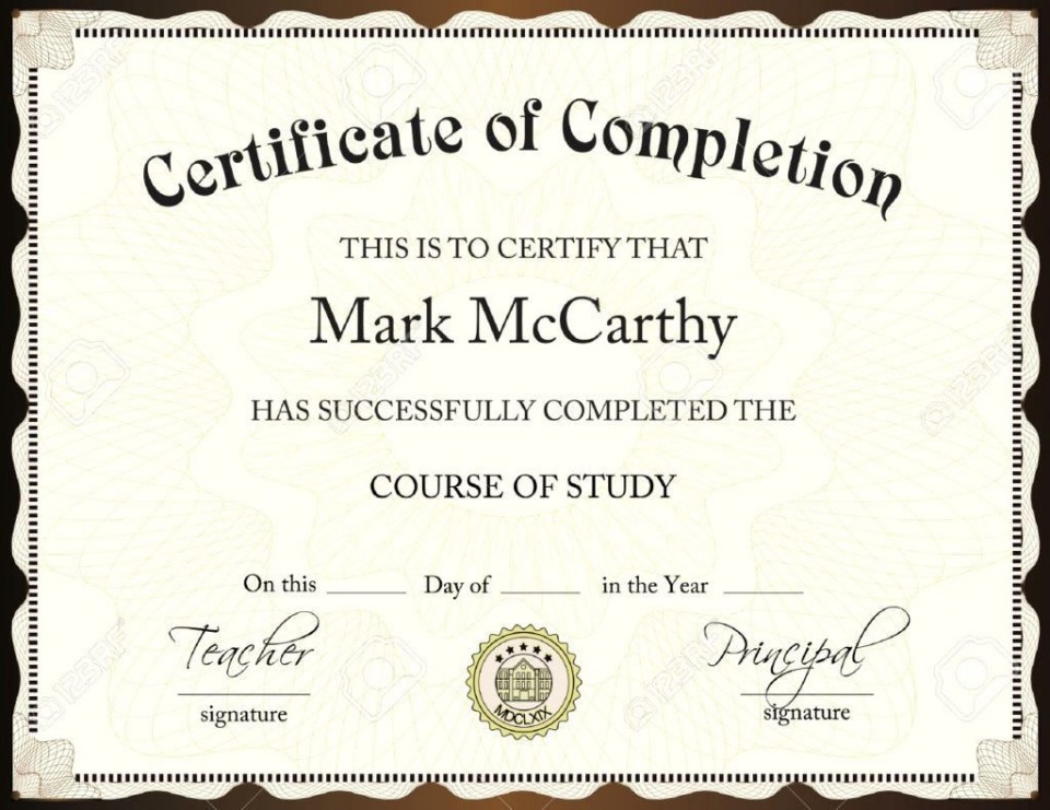 001 Exceptional Certificate Of Award Template Word Free Idea 960