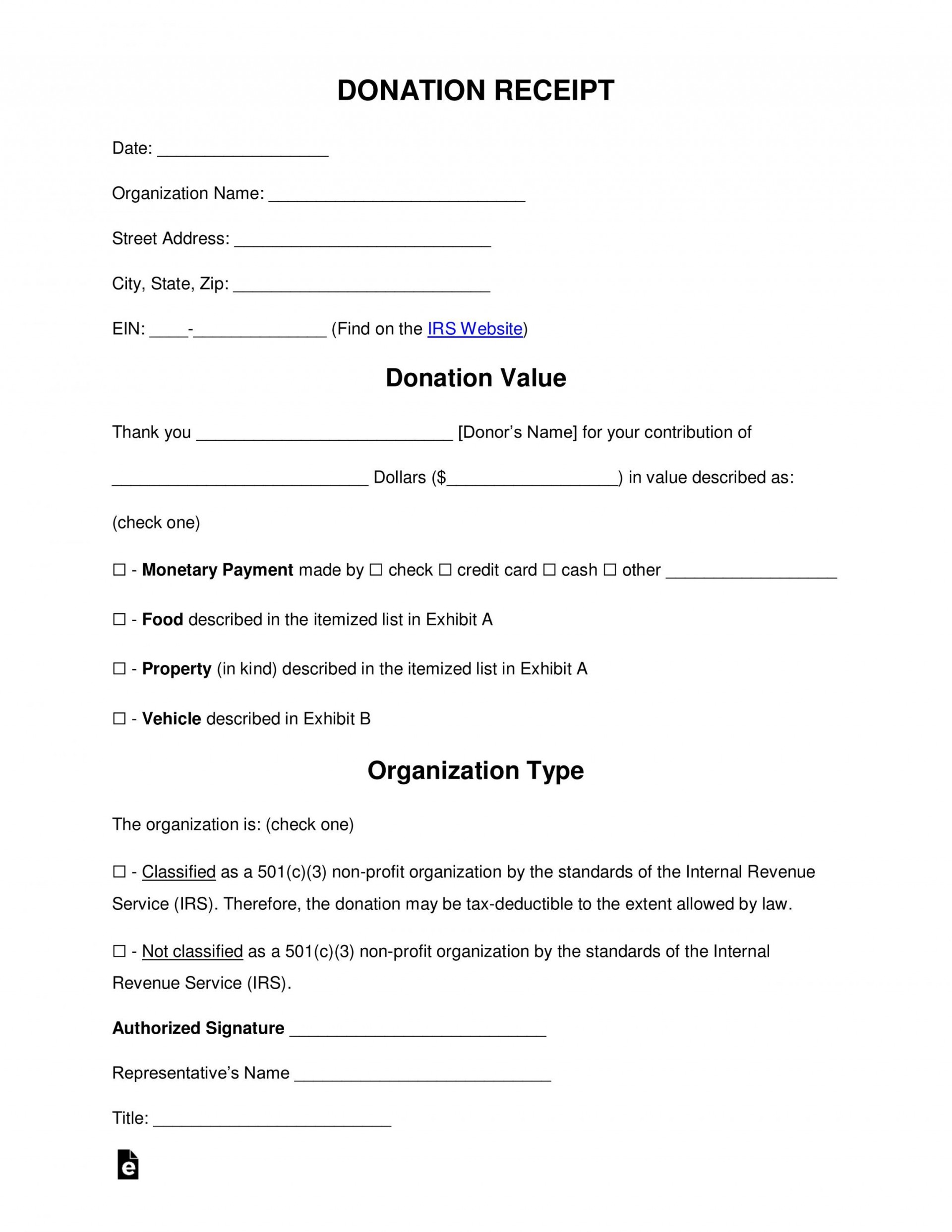 001 Exceptional Charitable Contribution Receipt Example Highest Clarity  Donation Tax Template Sample Letter1920