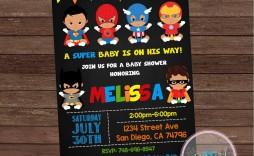 001 Exceptional Editable Superhero Invitation Template Free Design