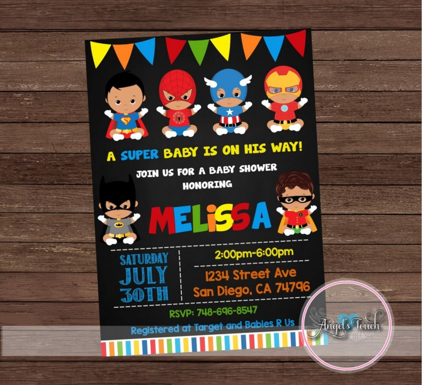 001 Exceptional Editable Superhero Invitation Template Free Design 868