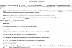001 Exceptional Exclusive Distribution Agreement Template Word Idea  Format