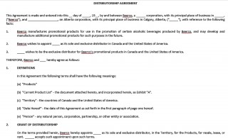 001 Exceptional Exclusive Distribution Agreement Template Word Idea  Format320