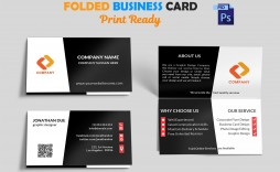 001 Exceptional Folded Busines Card Template Concept  Templates Publisher Free Download Tri Fold Word