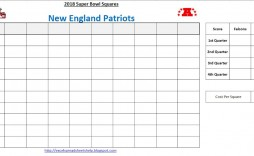 001 Exceptional Football Square Template Excel Sample  Printable Pool