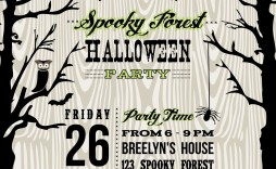 001 Exceptional Free Halloween Invite Template Photo  Templates Party Invitation For Word
