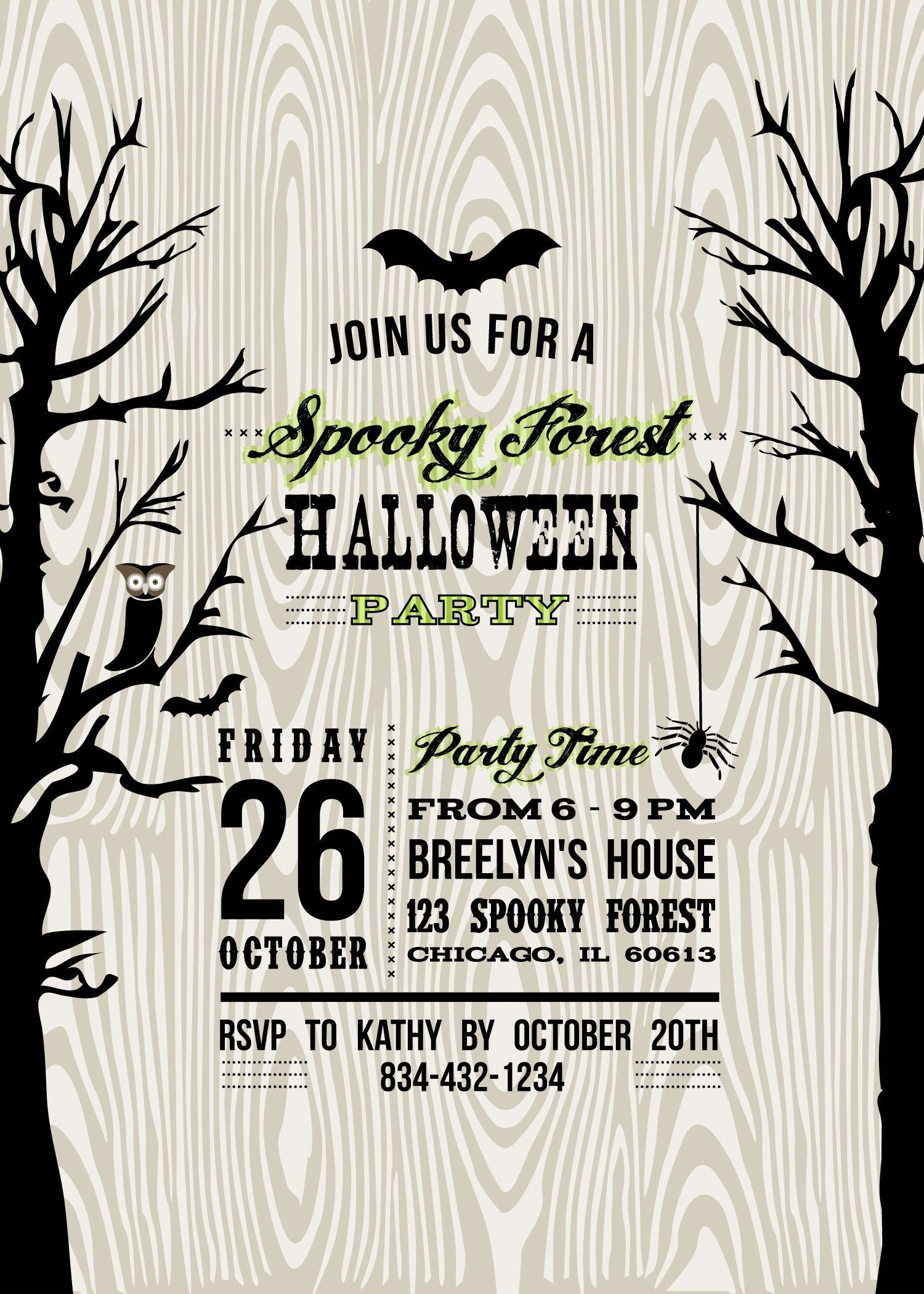 001 Exceptional Free Halloween Invite Template Photo  Templates Party Invitation For WordFull