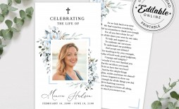 001 Exceptional Funeral Prayer Card Template Inspiration  Templates For Word Free