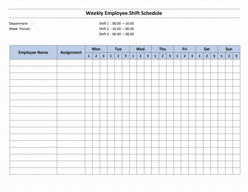 001 Exceptional Hourly Work Schedule Template Word Image Large