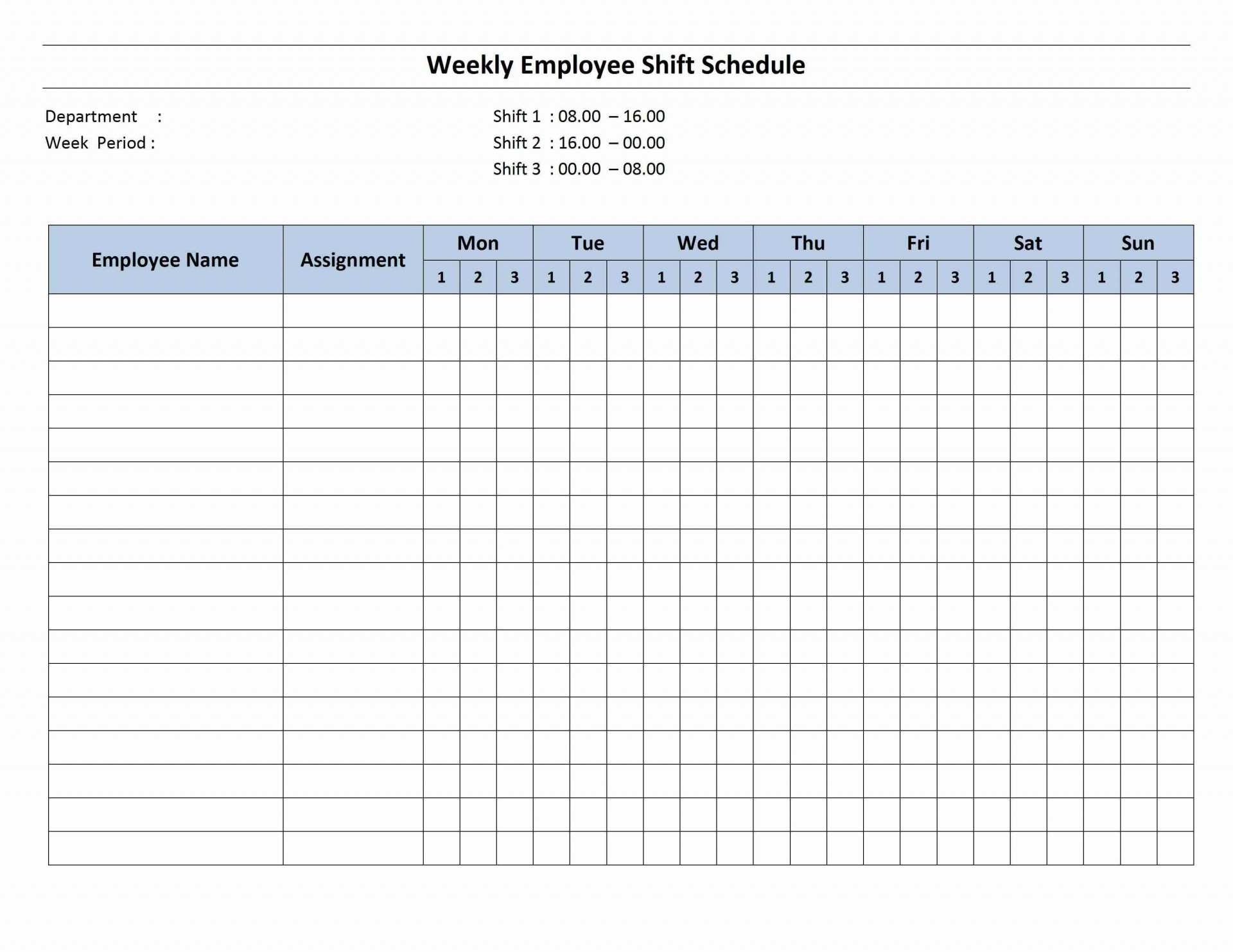 001 Exceptional Hourly Work Schedule Template Word Image 1920