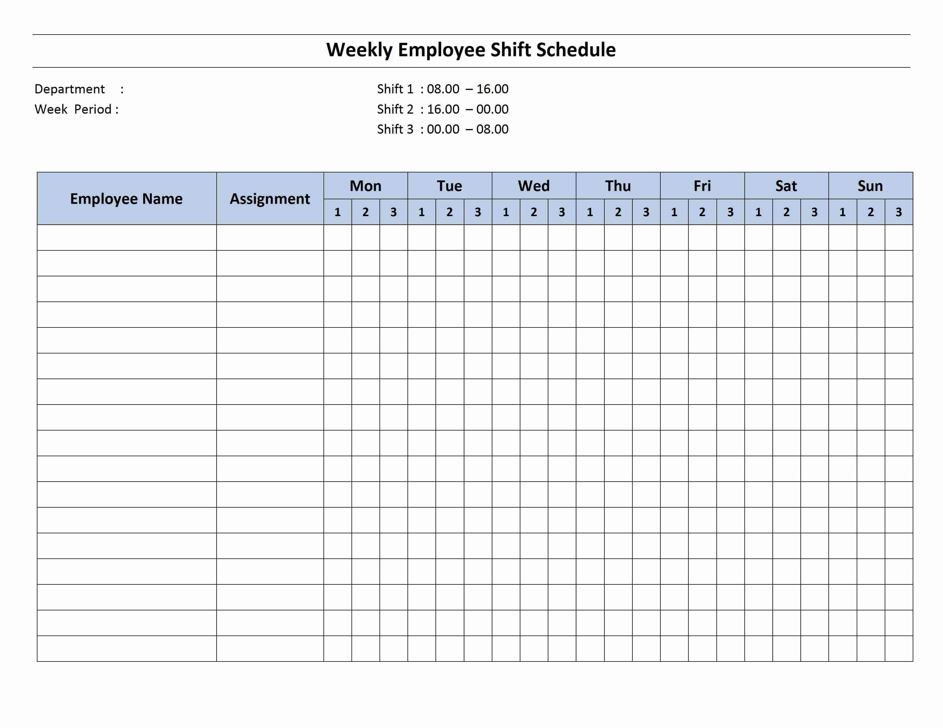 001 Exceptional Hourly Work Schedule Template Word Image Full