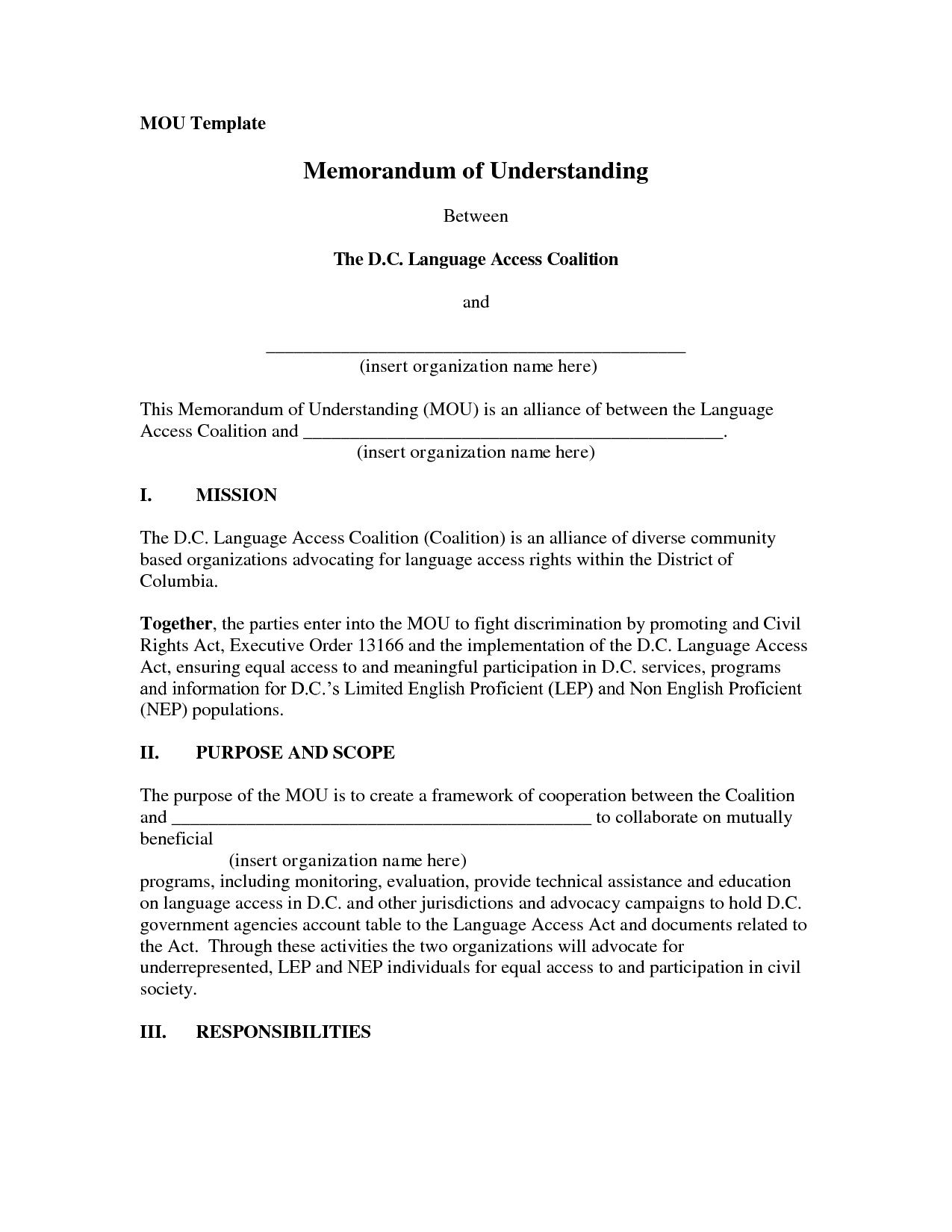 001 Exceptional Memorandum Of Agreement Template Design  Templates Sample Tagalog South Africa Philippine DocFull