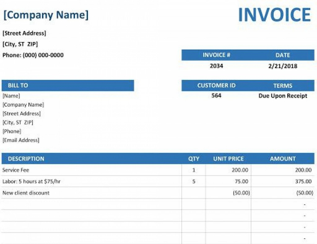 001 Exceptional Microsoft Excel Invoice Template Example  Gst Uk ProformaLarge