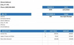 001 Exceptional Microsoft Excel Invoice Template Example  Gst Uk Proforma