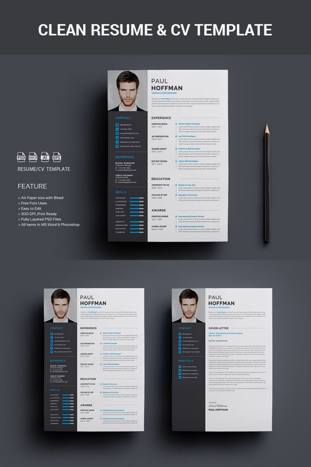 001 Exceptional Psd Cv Template Free Image  2018 Vector Photo And File Download ArchitectLarge
