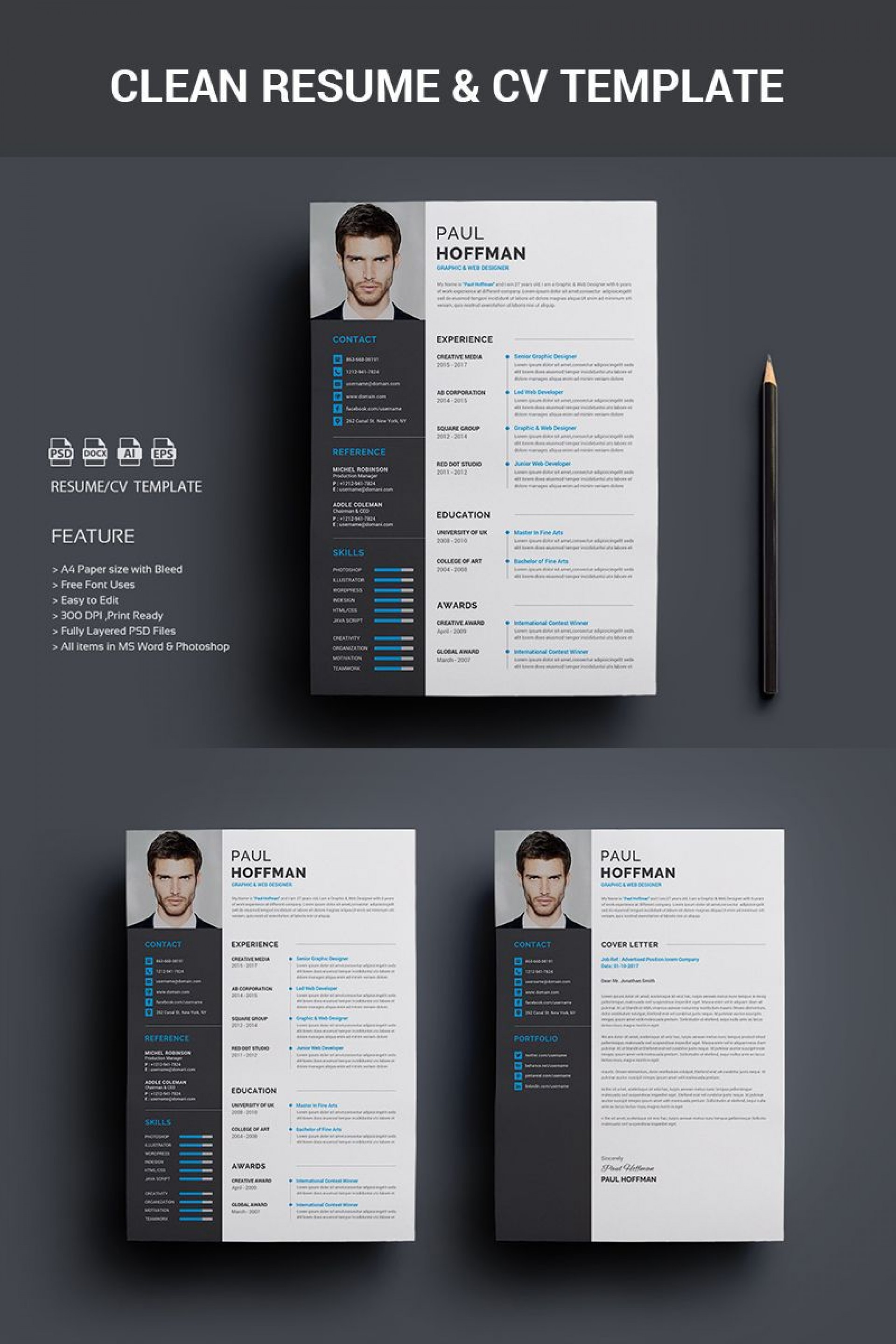 001 Exceptional Psd Cv Template Free Image  2018 Vector Photo And File Download Architect1920