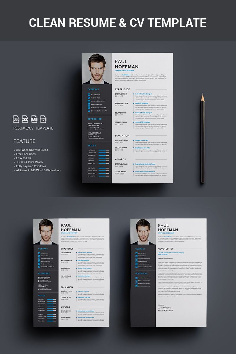 001 Exceptional Psd Cv Template Free Image  2018 Vector Photo And File Download ArchitectFull