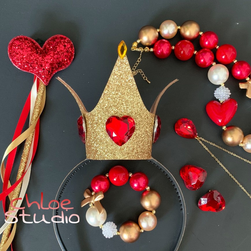 001 Exceptional Queen Of Heart Crown Pattern Idea  Printable Template Headband Diy