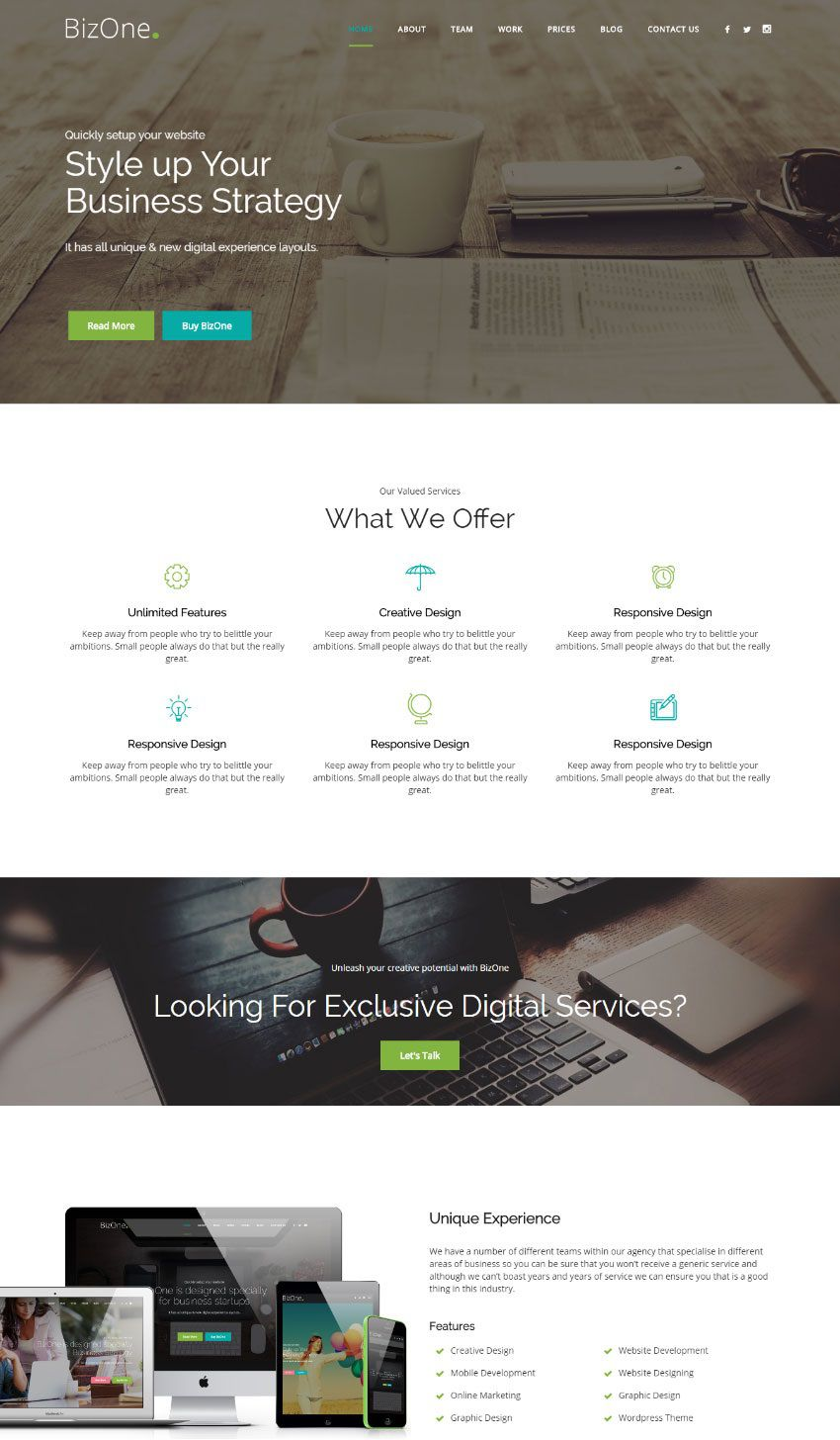 001 Exceptional Single Page Website Template Photo  Templates Free Download One HtmlFull