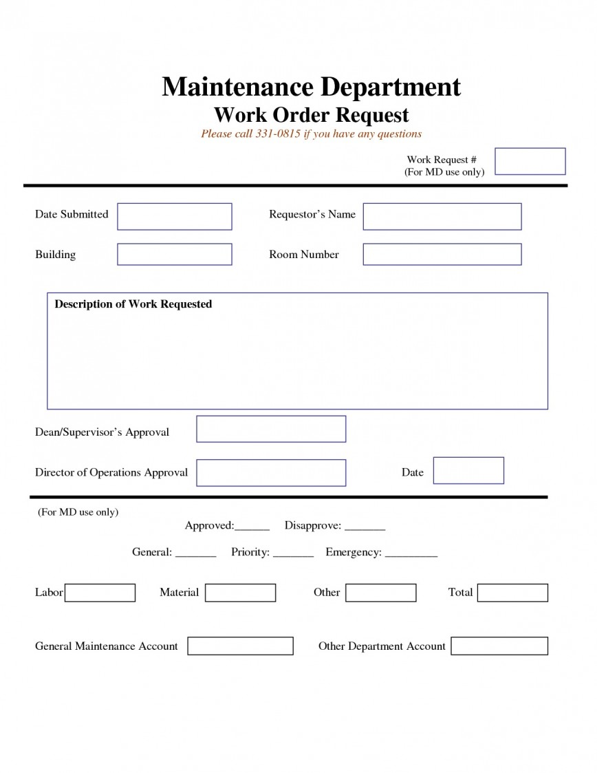 Work Order Template Excel from www.addictionary.org