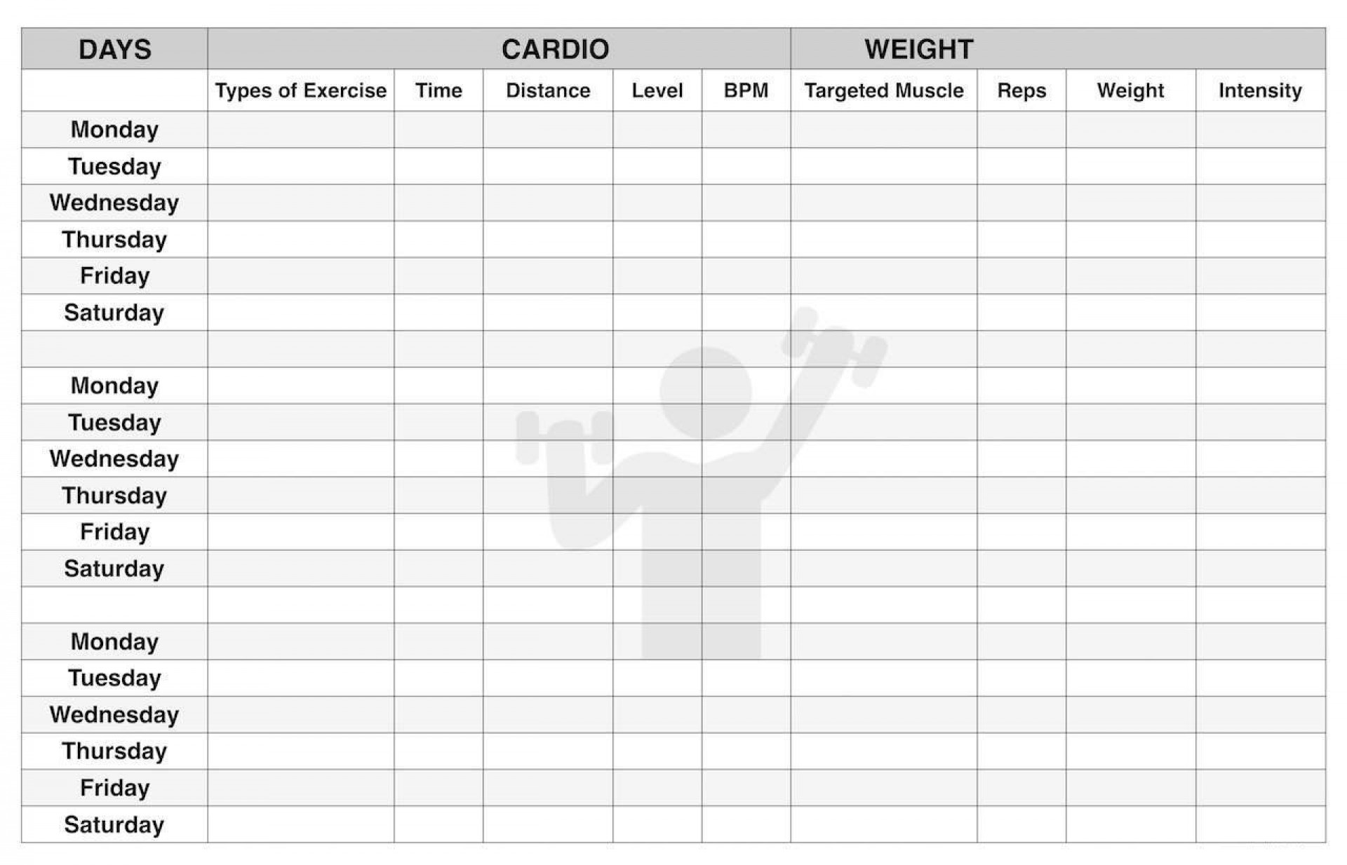 001 Exceptional Workout Schedule Template Excel Concept  Training Plan Download Weekly Planner1920