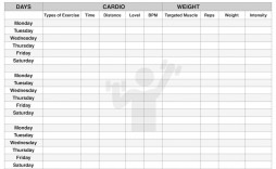 001 Exceptional Workout Schedule Template Excel Concept  Training Plan Download Weekly Planner
