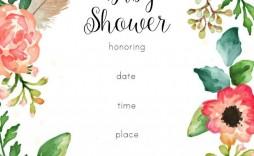 001 Fantastic Baby Shower Invitation Girl Free Printable Design  Twin