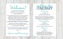 001 Fantastic Destination Wedding Welcome Letter And Itinerary Template High Def