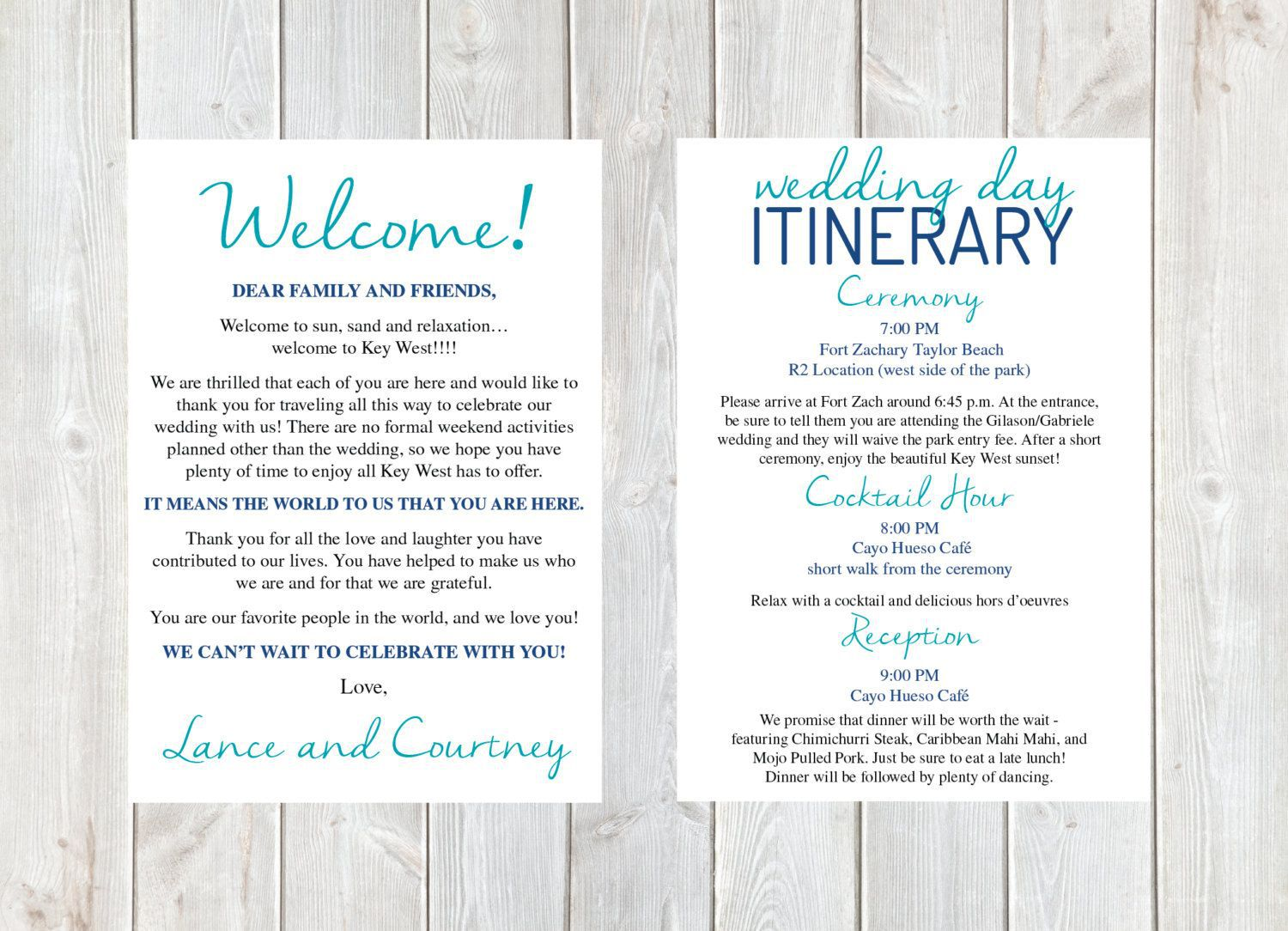 001 Fantastic Destination Wedding Welcome Letter And Itinerary Template High Def Full