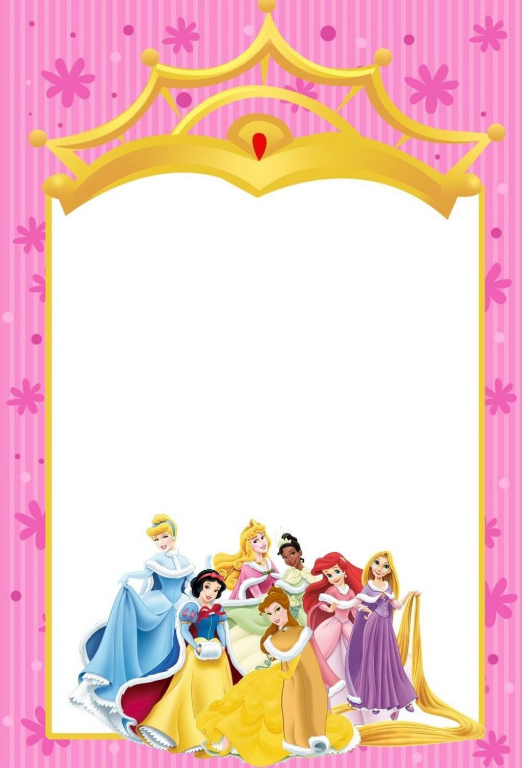 001 Fantastic Disney Princes Invitation Template Example  Downloadable Party Free Printable BirthdayLarge