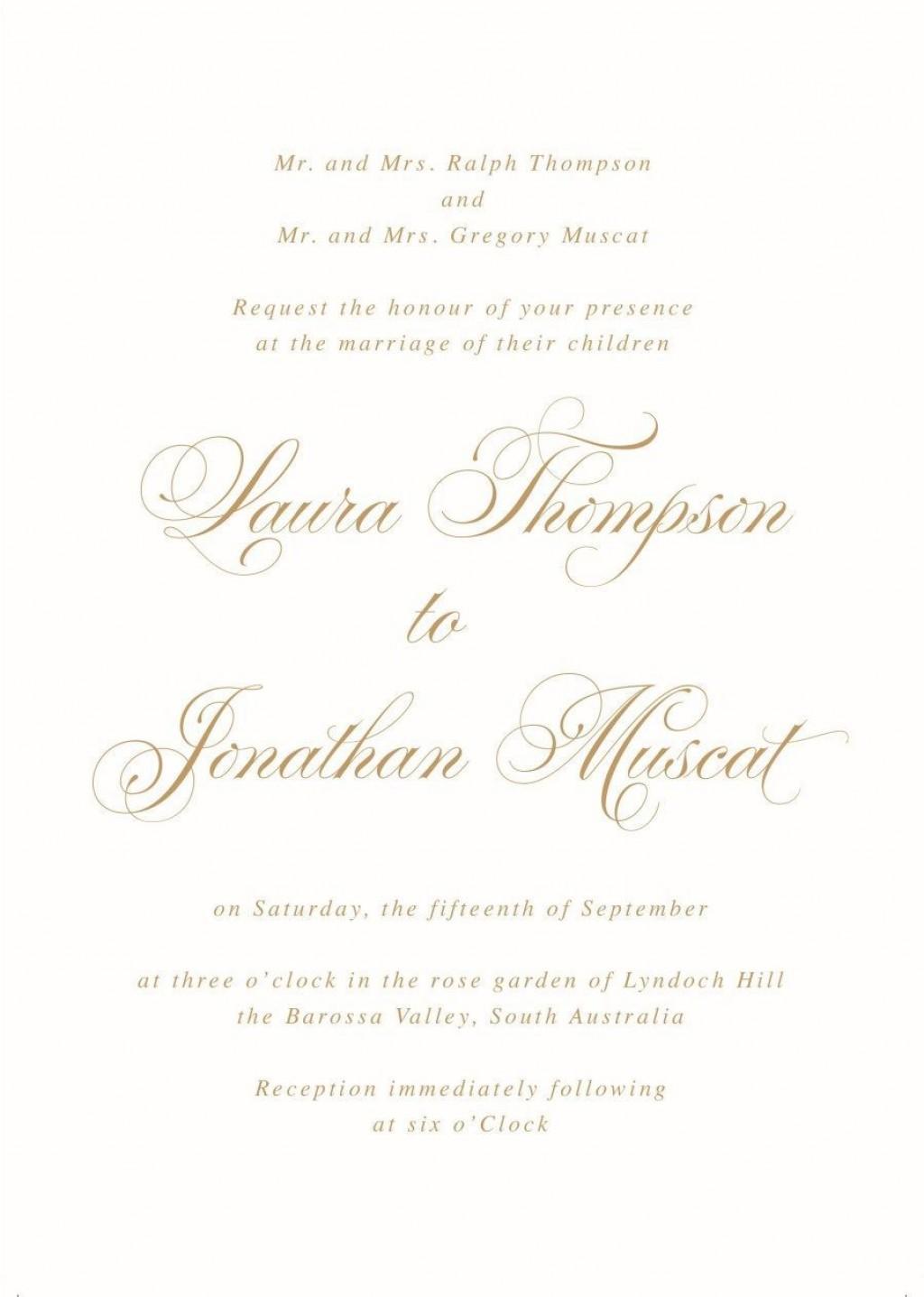 001 Fantastic Formal Wedding Invitation Wording Template Picture  TemplatesLarge