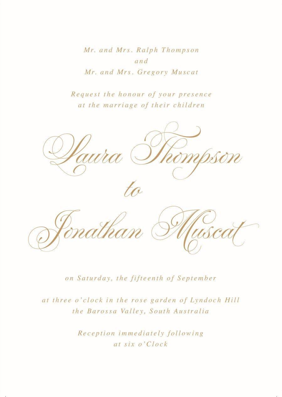 001 Fantastic Formal Wedding Invitation Wording Template Picture  TemplatesFull