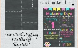 001 Fantastic Free Birthday Chalkboard Template Concept  First Printable Baby