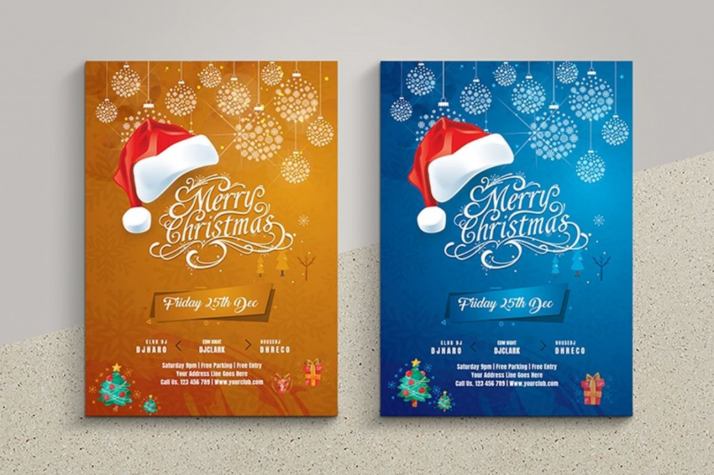 001 Fantastic Free Christma Flyer Template Picture  Templates Holiday Invitation Microsoft Word PsdLarge